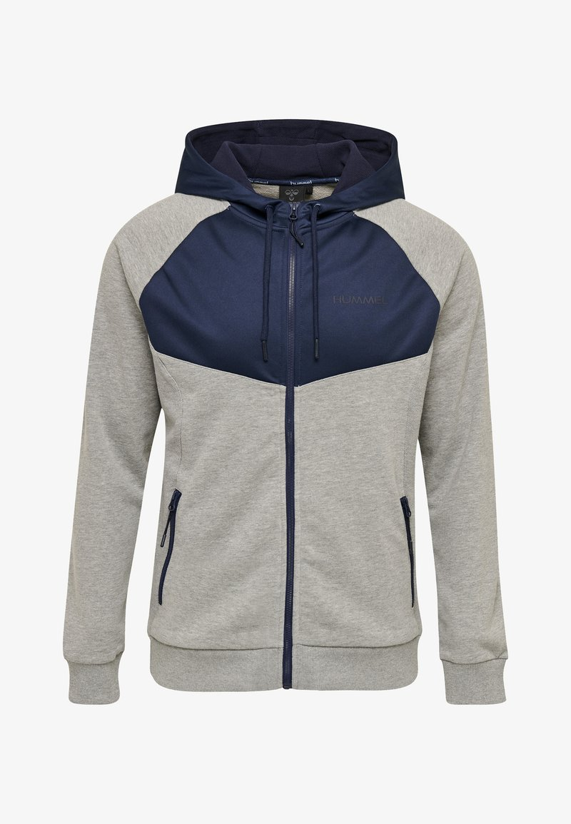 Hummel - Zip-up hoodie - mottled grey