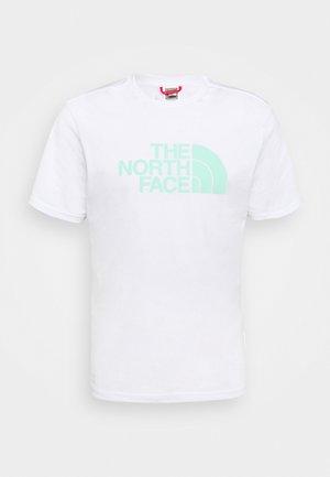 EASY TEE - Print T-shirt - white/surf green