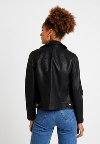 Topshop - LUCKY - Faux leather jacket - black - 2