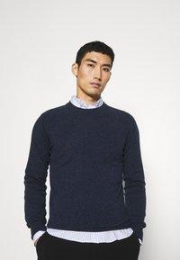 Wool & Co - GIROCOLLO BOTTONATO - Jumper - blue - 3