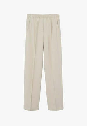 FLOWY STRAIGHT-FIT  - Trousers - ecru