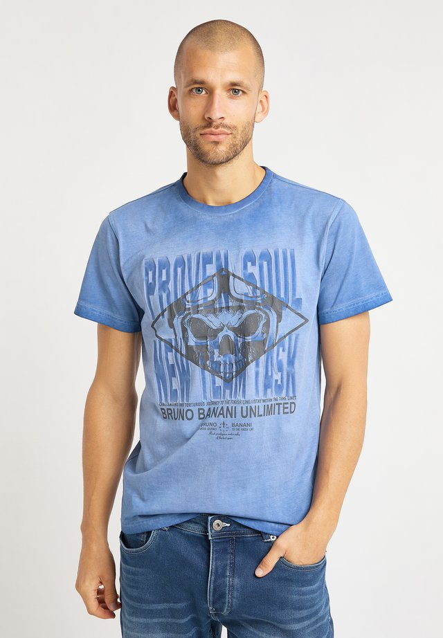 T-shirt med print - blau