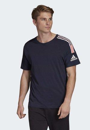 ADIDAS Z.N.E. 3-STRIPES T-SHIRT - T-shirts print - blue