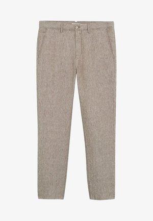 OYSTER - Trousers - mittelbraun