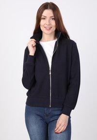 Basics and More - Zip-up sweatshirt - dark blue - 0