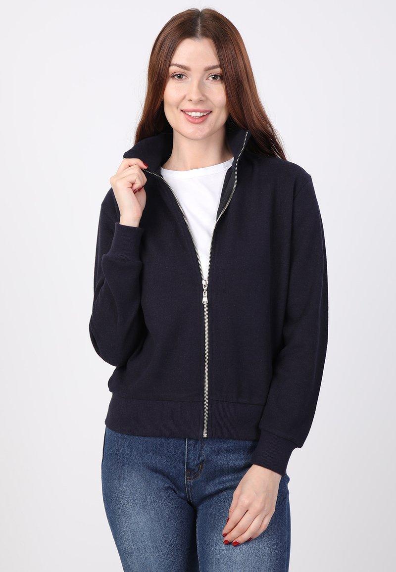 Basics and More - Zip-up sweatshirt - dark blue