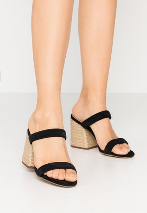MARCELLA - Heeled mules - black