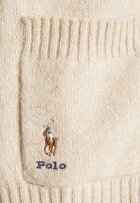 Polo Ralph Lauren - LONG SLEEVE CARDIGAN - Kardigan - tallow cream heather - 4