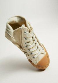 Mango - DALLAS - High-top trainers - ecru - 4