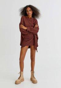 PULL&BEAR - Wrap skirt - orange - 1