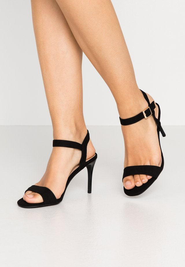 SOHO ENAMEL MINIMAL - High heeled sandals - black
