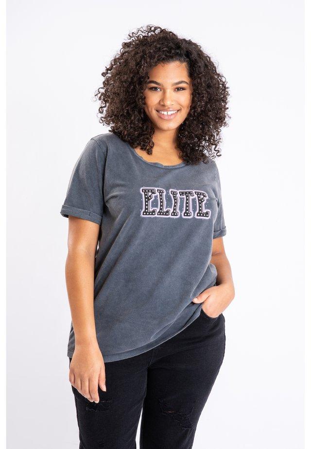 WITH FASHION - T-shirt imprimé - black