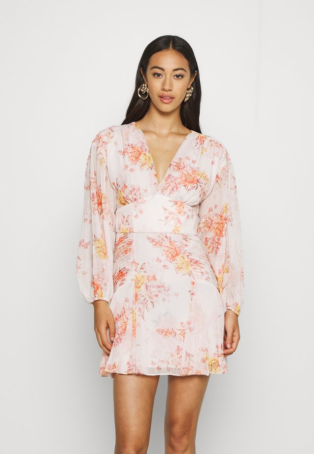BLOUSON MINI DRESS - Robe d'été - orange