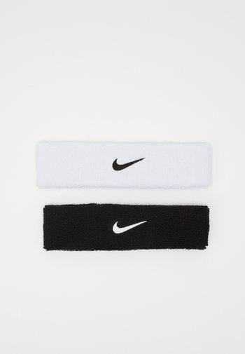 HEADBAND 2 PACK UNISEX - Other accessories - black/white