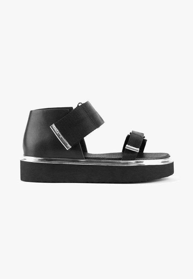 VITA - Sandalen met plateauzool - black