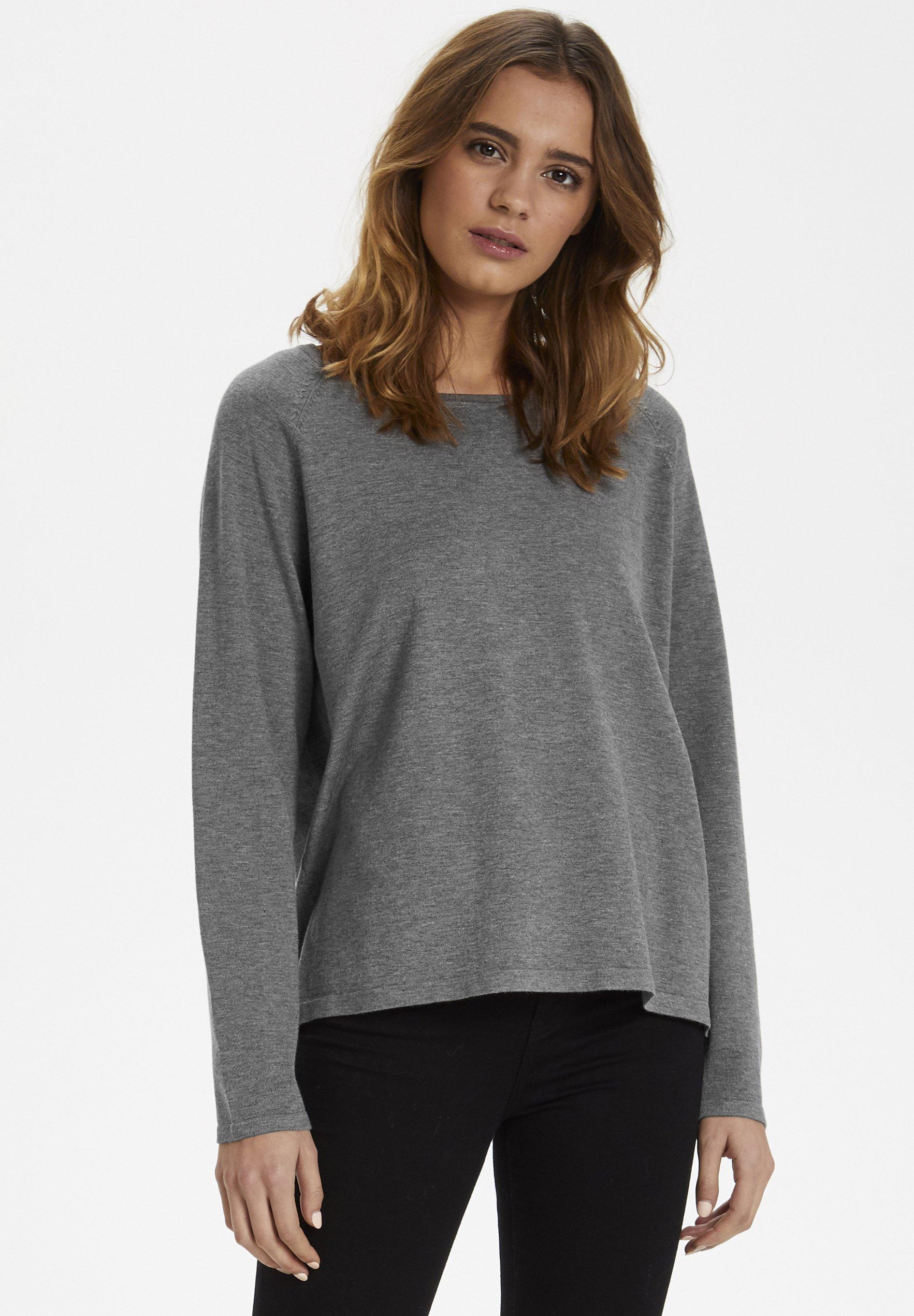 Culture ANNE MARIE - Pullover - mid grey melange - Pulls & Gilets Femme PChpw