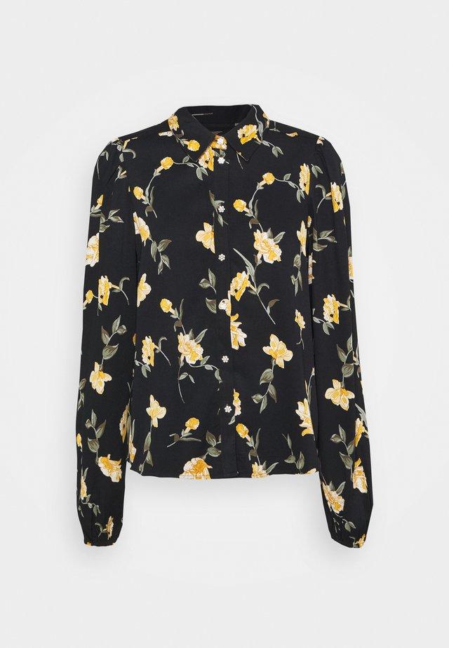 PCGLYDA  - Button-down blouse - black