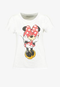ONLY - ONLMICKEY VINTAGE - T-shirts med print - white - 3