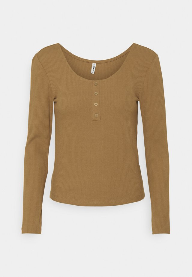 ONLSIMPLE LIFE BUTTON - Long sleeved top - toasted coconut
