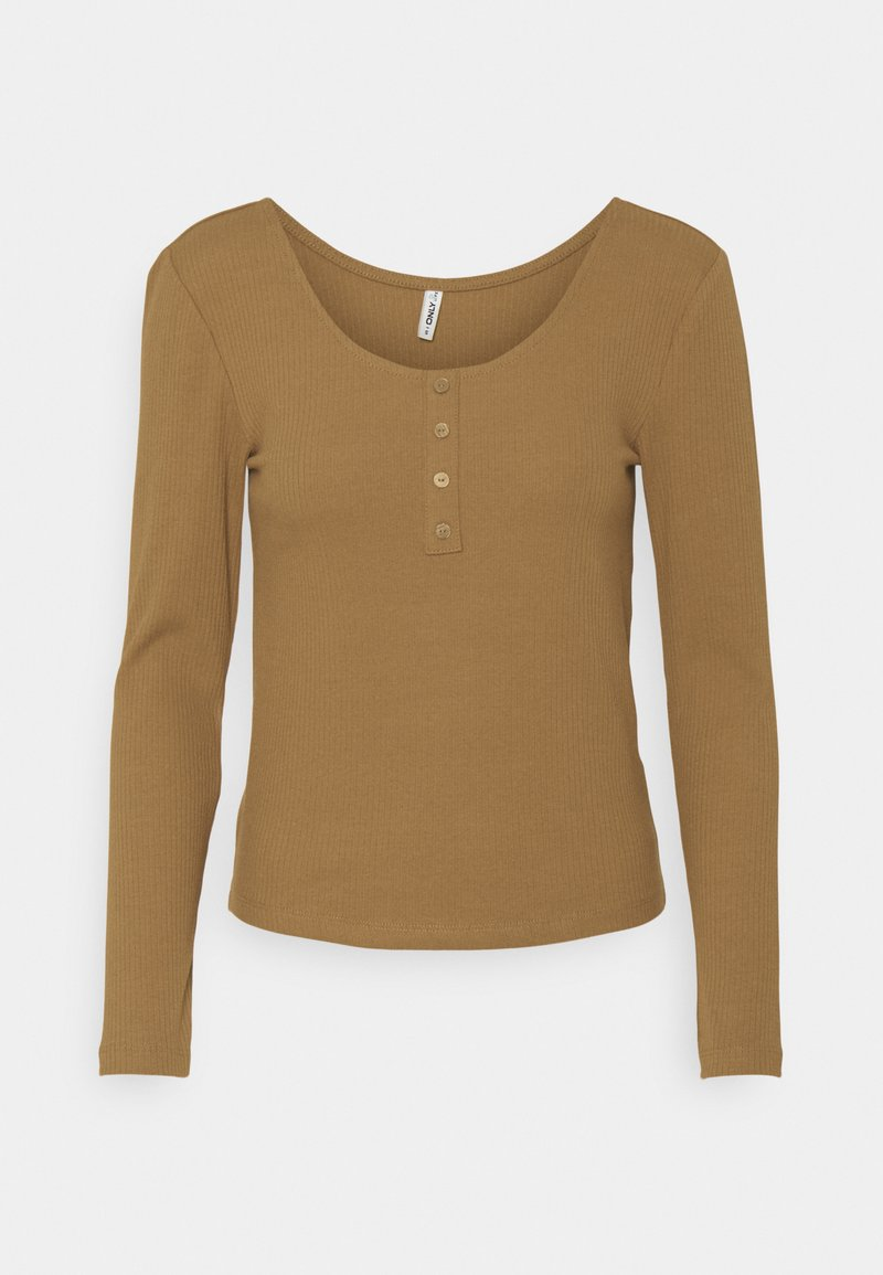 ONLY - ONLSIMPLE LIFE BUTTON - Long sleeved top - toasted coconut