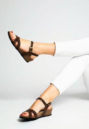 CANBERRA - Platform sandals - brown