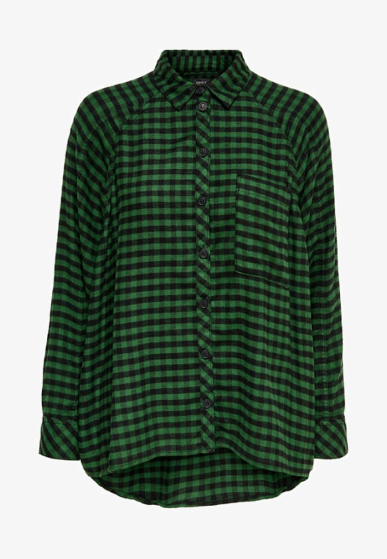 ONLY - Button-down blouse -  green