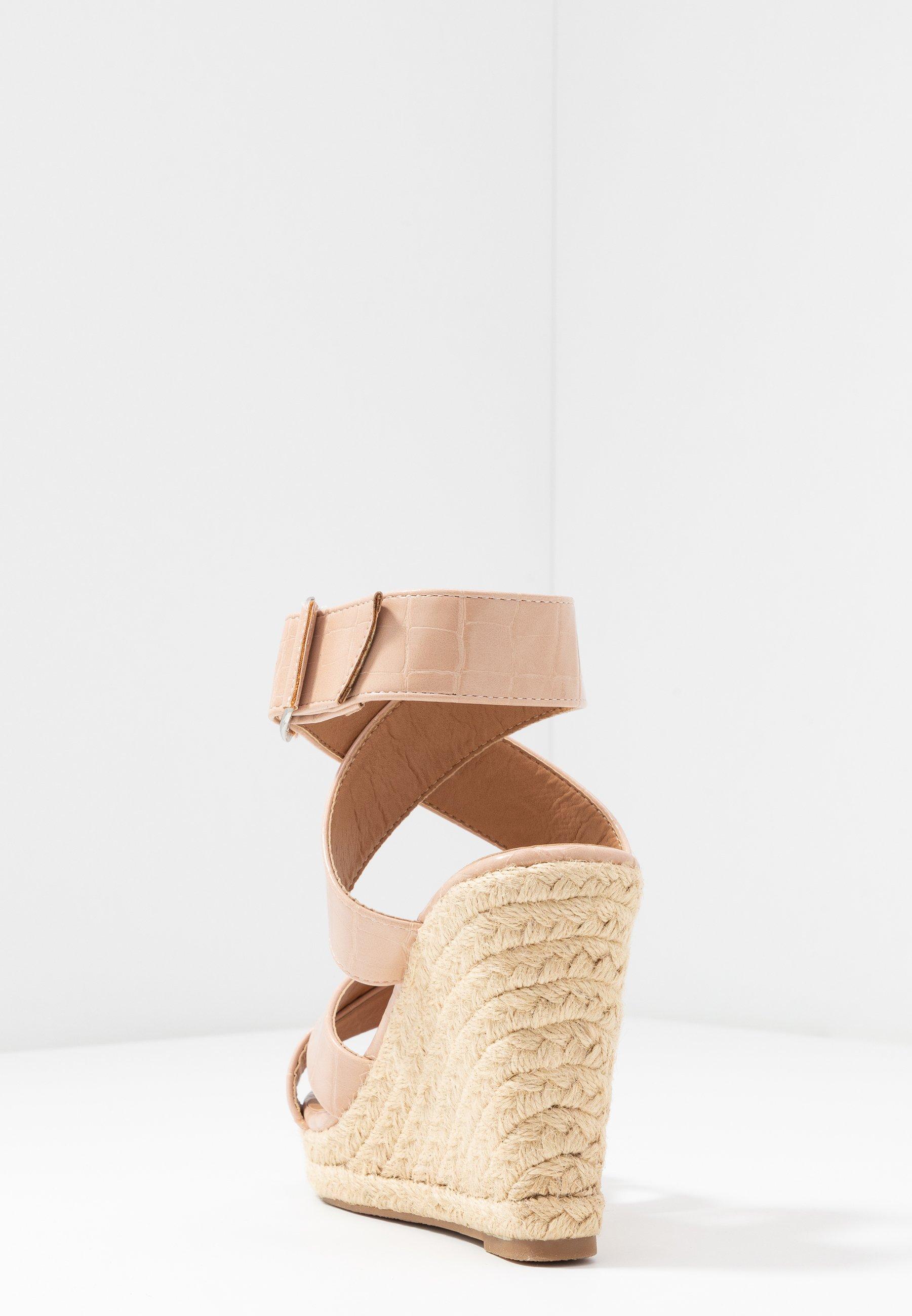 Only Shoes Onlamelia Wrap - Højhælede Sandaletter / Sandaler Nude
