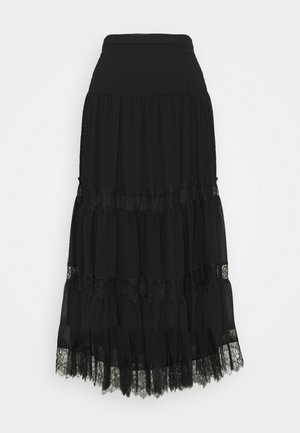 SOLID SKIRT - Gonna a campana - black