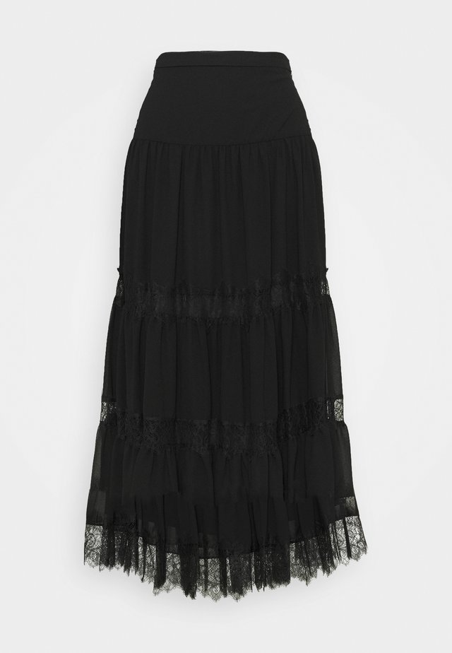 SOLID SKIRT - A-lijn rok - black