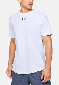 Under Armour - CHARGED COTTON SS - Basic T-shirt - white - 0