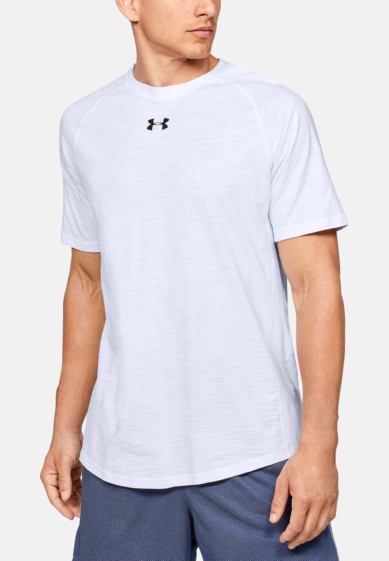 Under Armour - CHARGED COTTON SS - Basic T-shirt - white