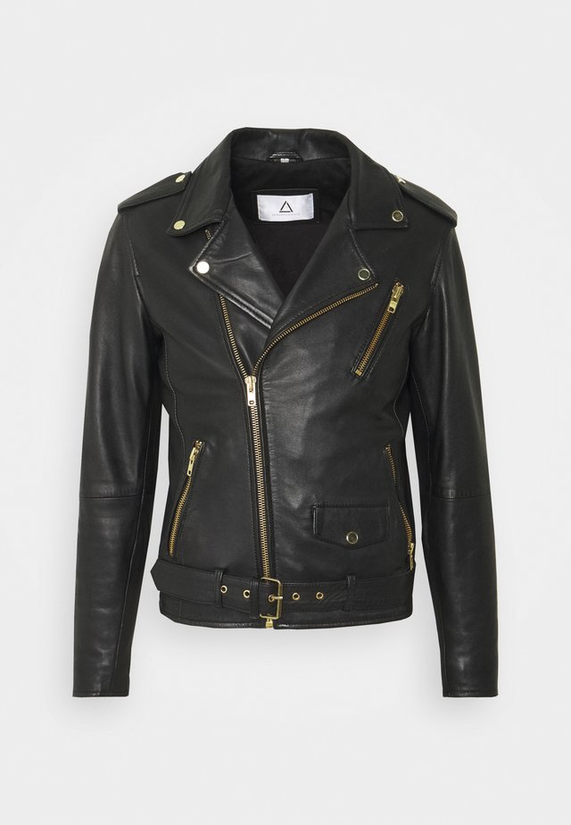 ROCKER - Leather jacket - black