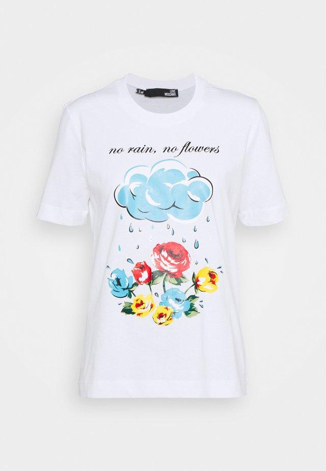 T-shirt con stampa - optical white