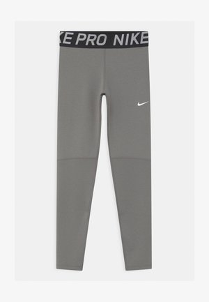 Leggings - carbon heather/white