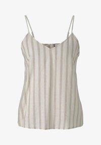 TOM TAILOR DENIM - Top - brown beige stripe - 4