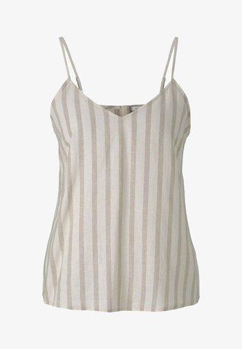 Top - brown beige stripe