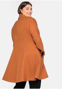 Sheego - Classic coat - cognac - 2