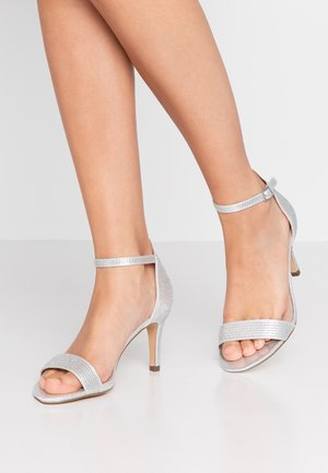 WIDE FIT BESSY - Sandals - silver