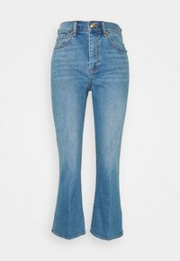 Tory Burch - CROPPED BOOT MARBLE JEAN - Široké džíny - stone blue denim - 5