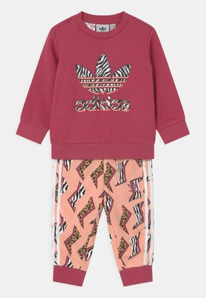 CREW SET UNISEX - Trainingspak - wild pink/glow pink/multicolor/white