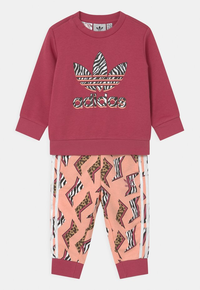 CREW SET UNISEX - Tracksuit - wild pink/glow pink/multicolor/white