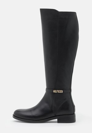 BLOCK BRANDING LONG BOOT - Boots - black