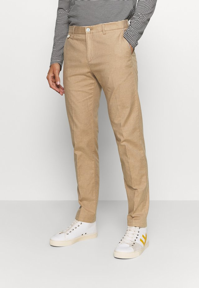 FLEX CONTRAST DETAIL SLIM PANT - Trousers - beige