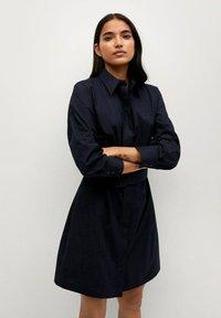 Mango - Shirt dress - azul marino - 0