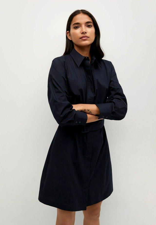 Košilové šaty - azul marino