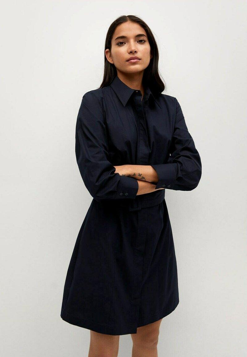 Mango - Shirt dress - azul marino