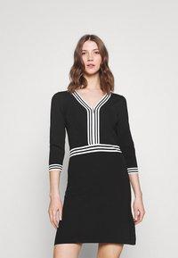 Morgan - Shift dress - noir/off white - 0