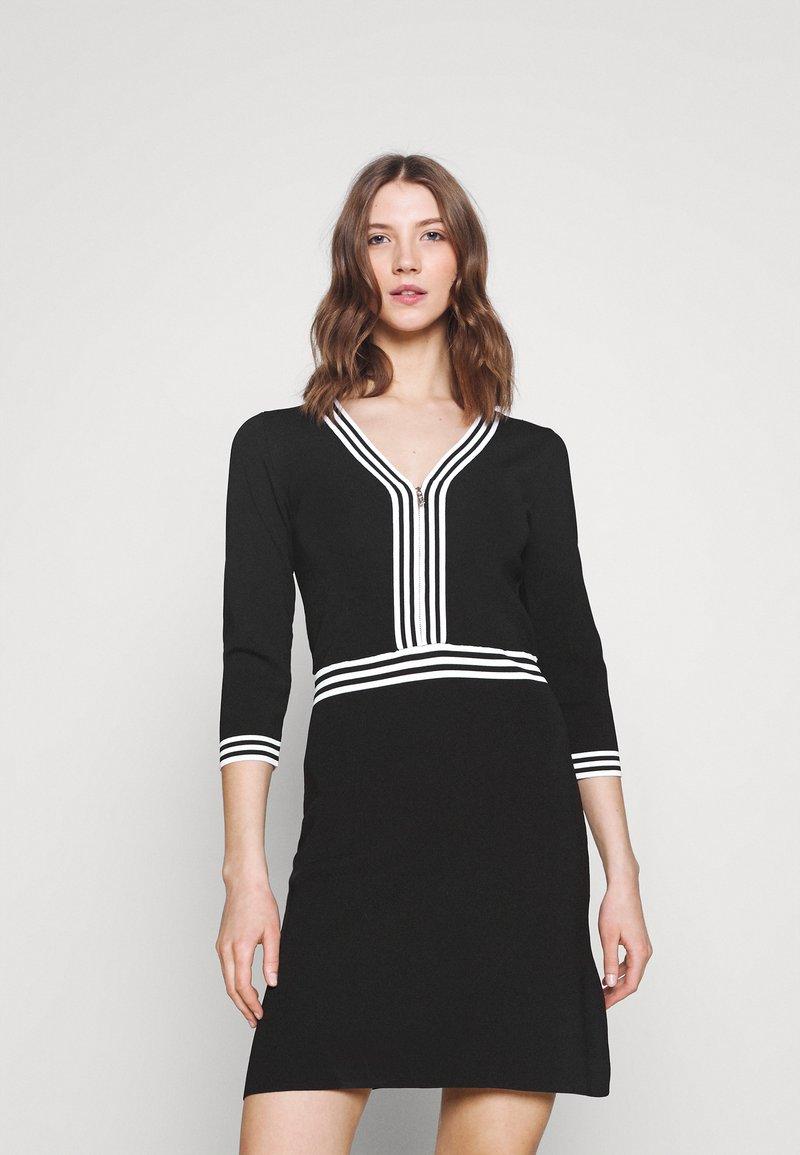 Morgan - Shift dress - noir/off white