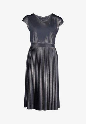 MIT PLISSEE - Jersey dress - dunkelblau