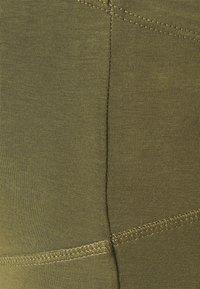 Anna Field MAMA - 2 PACK - Leggings - black/olive - 5